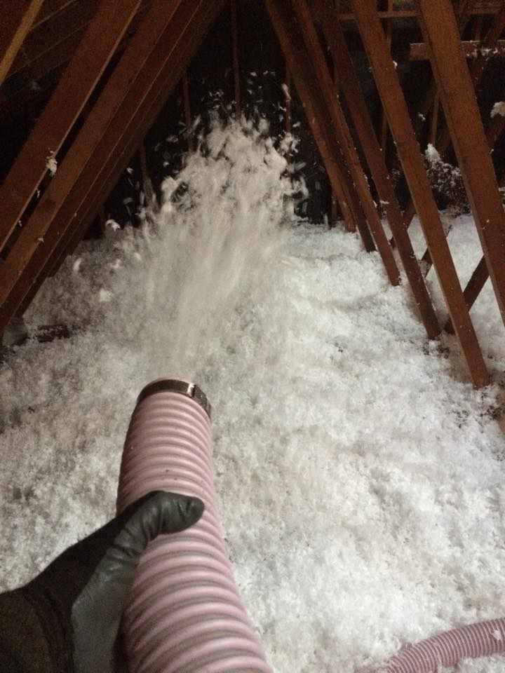 during an attic insulation installation in Livermore