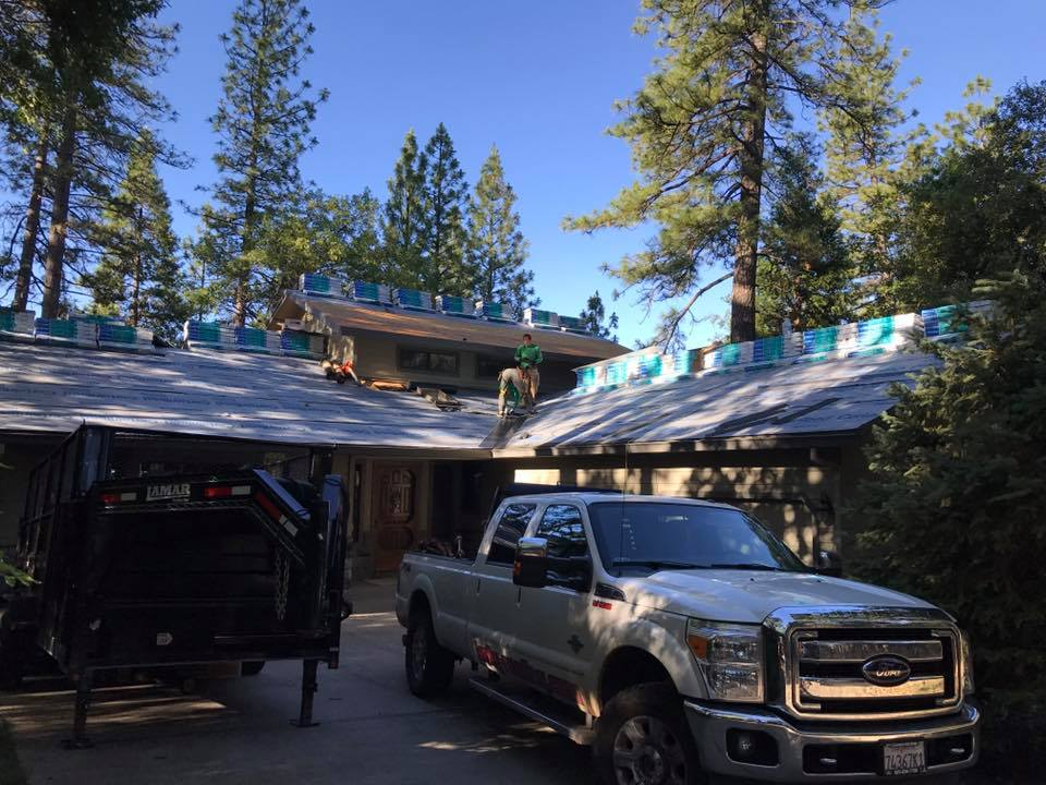 Roof installation in Columbia, California