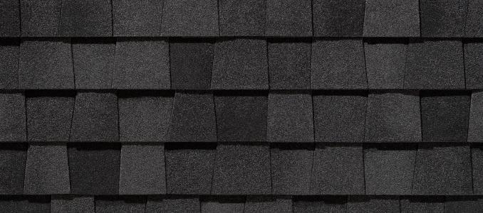 Moire Black shingles
