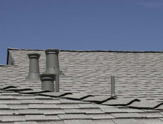 Malarkey black roof installed by roofer in Arnold, CA