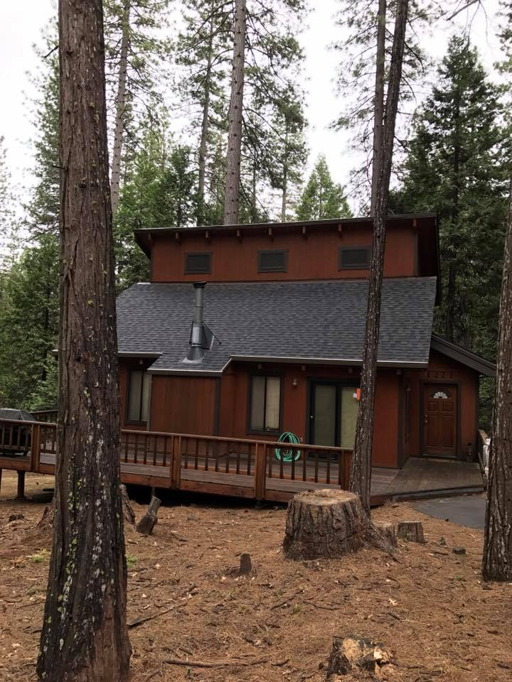 cabin with newly replaced roof in Columbia, CA