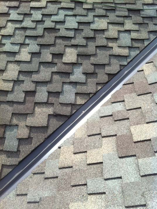 new shingles added on the roof