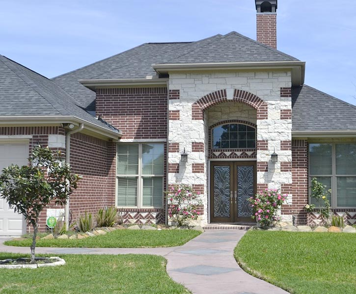 house in Turlock with a recently repaired roof