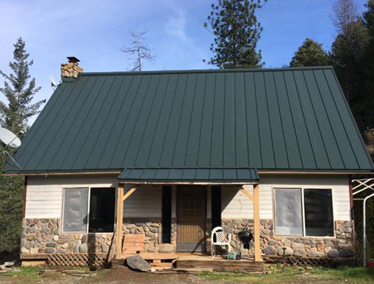 Metal roofing system installed in Groveland, California