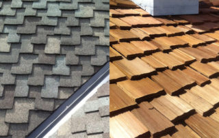 shingle vs shake roofs