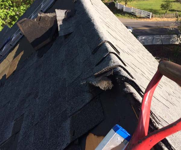 a storm damaged roof in Jamestown requires immediate emergency repairs to prevent extensive damage
