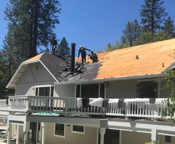 our reliable roofers in Salida are working on installing a new shingle roof