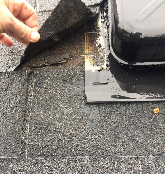 leaking roof that needs repair